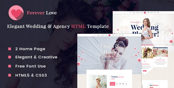 Forever Love - Wedding & Agency HTML Template - Wedding Site Templates
