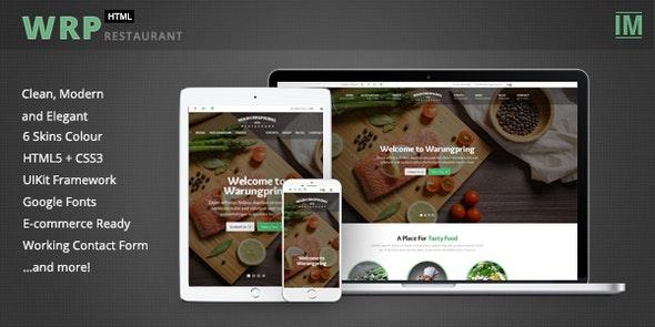 Warungpring - Restaurant HTML Template - Restaurants & Cafes Entertainment