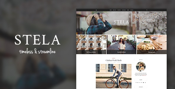 Stella - Personal Blog PSD Template - Personal Photoshop