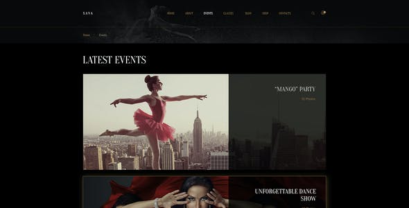 Sava — Dance school or club PSD Template