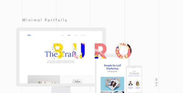 Buro - Minimal Bootstrap & Typography Portfolio Template - Portfolio Creative