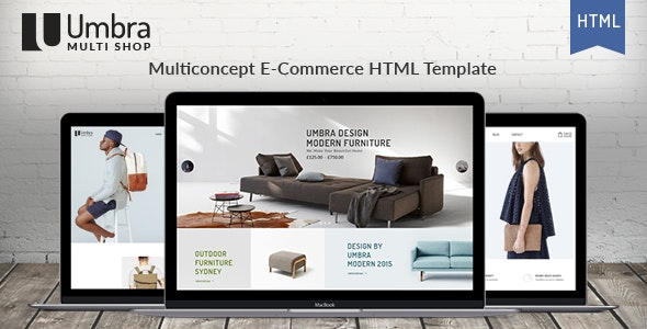 Umbra - Multi Concept e-Commerce HTML Template - Retail Site Templates