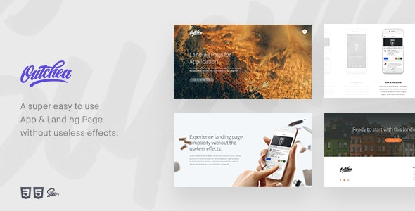 Outchea - A Easy To Use App & Landing Page Template - Creative Landing Pages