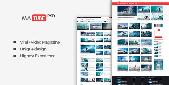MaTube - Video Magazine for Sport and Viral - Miscellaneous Photoshop