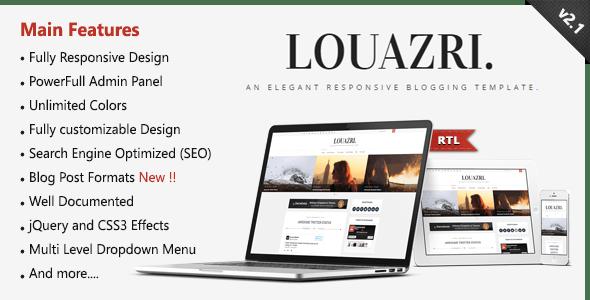 Louazri - An Elegant Responsive Blogging Template