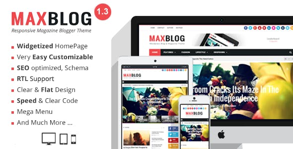 MaxBlog - Responsive Magazine Blogger Template