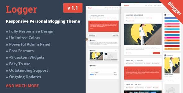 Logger - Responsive Personal Blogging Template - Blogger Blogging