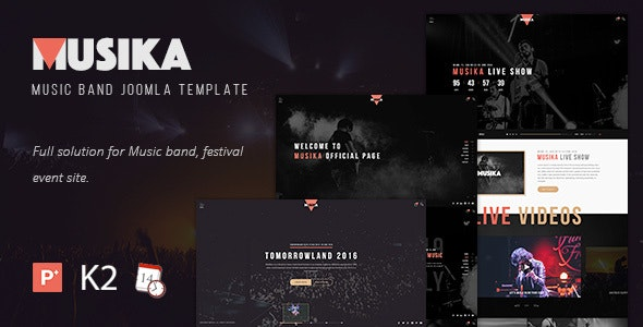 Musika - Music Festival & Band Joomla Template - Music and Bands Entertainment