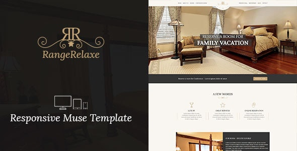 RangeRelaxe - Hotel & Resort Responsive Muse Template - Corporate Muse Templates