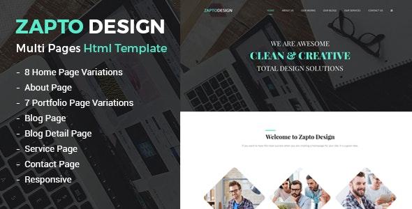 Zapto - Multi-Purpose Responsive HTML Template - Corporate Site Templates