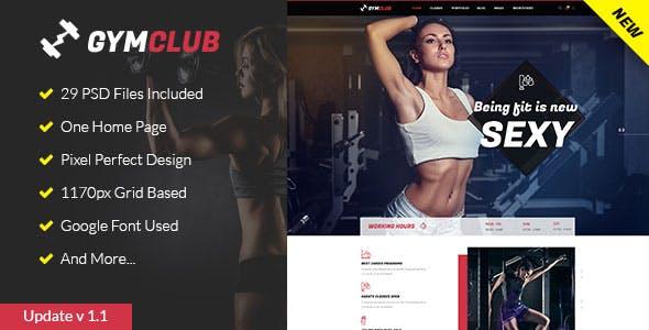 GymClub - Gym & Fitness PSD Template