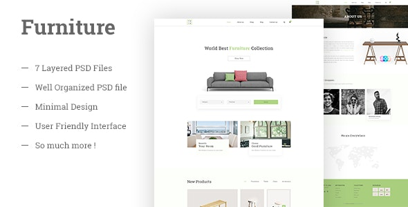 Furniture E Commerce PSD Template - Retail PSD Templates