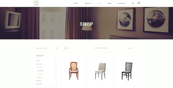 Furniture E Commerce PSD Template