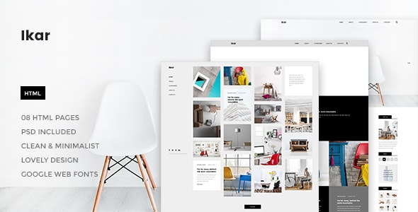 Ikar - Blog/Magazine HTML Template - Site Templates