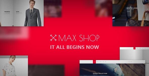 Maxshop - Revolutionary E-commerce Template - Shopping Retail