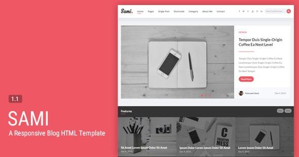 Sami - A Responsive Blogging HTML Template - Miscellaneous Site Templates