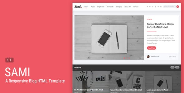 Sami - A Responsive Blogging HTML Template