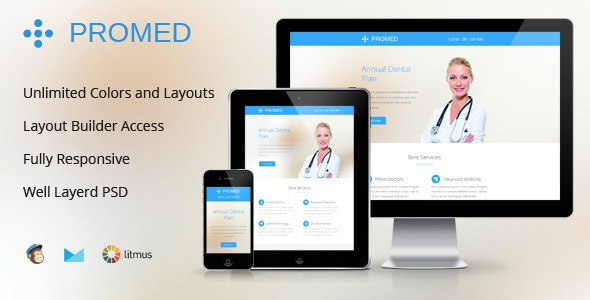 Promed-Health Marketing Responsive Email Template - Email Templates Marketing