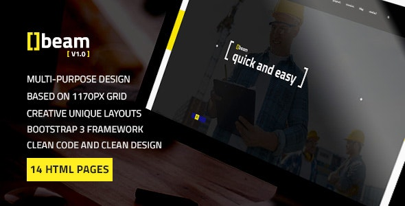 Beam — Modern Multipurpose HTML Template for Construction Business - Business Corporate