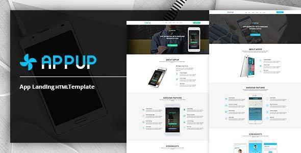 APPUP – App Landing HTML Template - Technology Site Templates