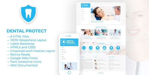 DENTAL PROTECT — Responsive Dental and Health HTML5 Template - Health & Beauty Retail