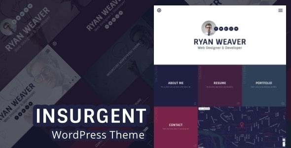 Insurgent - Personal Vcard Resume Portfolio WordPress Theme - Portfolio Creative