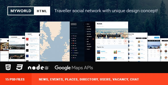 HTML & PSD Directory, geolocation template for traveller - Travel Retail