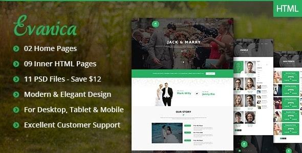 Evanica - General Wedding Site Theme - Site Templates