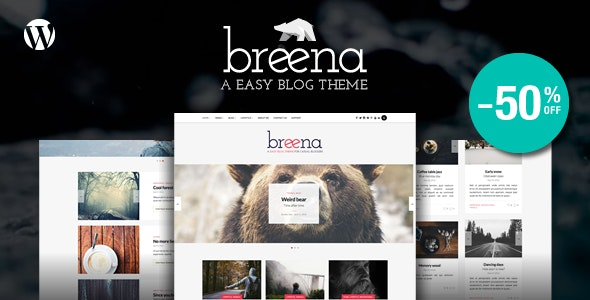 Breena - A Responsive WordPress Blog Theme - Personal Blog / Magazine