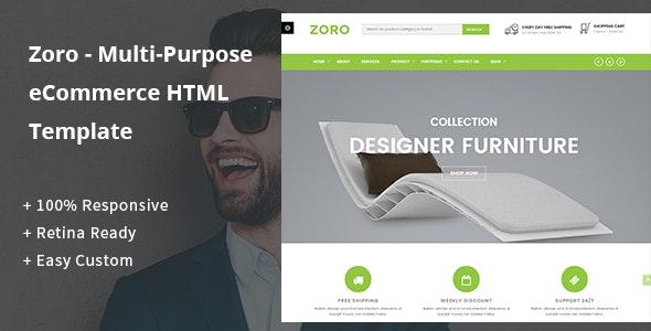 Zoro - Multi-Purpose eCommerce HTML Template - Shopping Retail