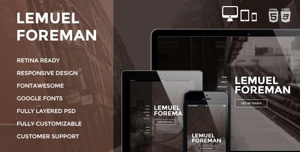 LF - One Page Multi Purpose Parallax HTML Theme - Creative Site Templates