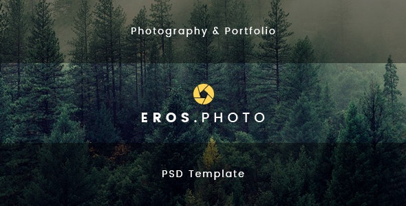 Eros - Photography & Portfolio PSD Template - Photography Creative
