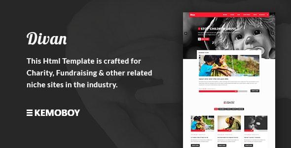 Divan - Charity, Donation & Fundraising HTML Template - Charity Nonprofit