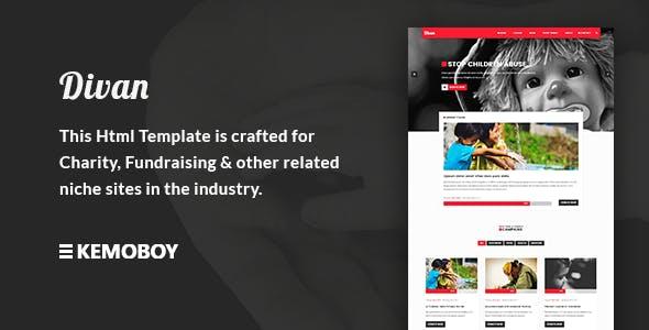 Divan - Charity, Donation & Fundraising HTML Template