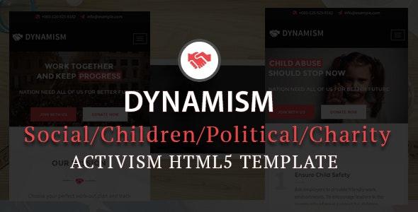Dynamism Responsive Activism HTML5 Template - Activism Nonprofit