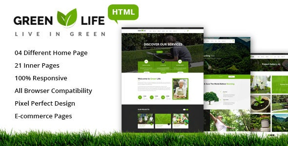 GreenLife - Gardening and Landscaping HTML5 Template - Business Corporate
