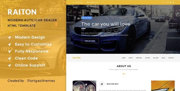 Raiton - Car Shop & Car Dealer HTML Template - Business Corporate