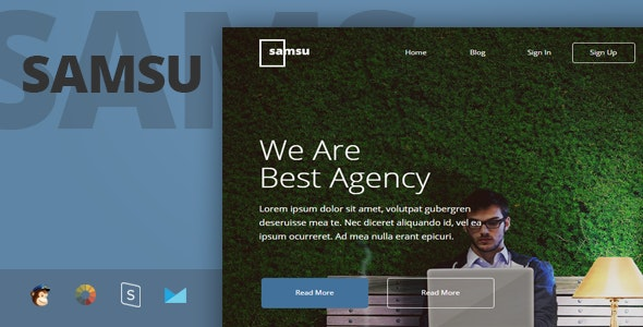 Samsu - Multipurpose Responsive Email Template + Stampready Builder - Newsletters Email Templates