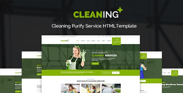 Cleaning - Purify Service HTML Site Template - Business Corporate