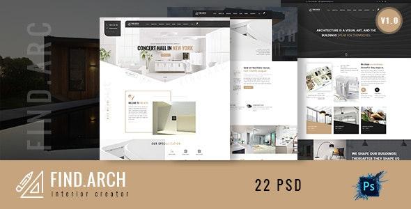Find.ARC - Interior Design, Architecture PSD Template - Business Corporate