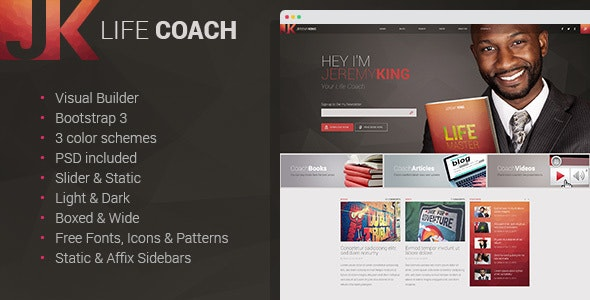 Life Coach - Multipage HTML Template with Visual Builder - Personal Site Templates