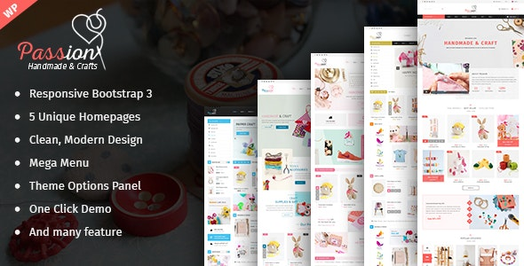 Passion - Handmade & Craft WooCommerce WordPress Theme - WooCommerce eCommerce