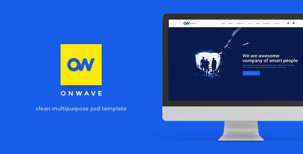 OnWave — Multipurpose PSD Template - PSD Templates