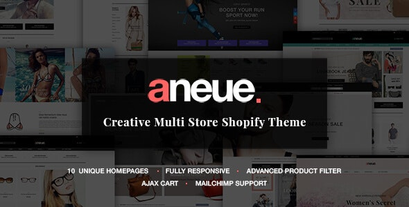 Aneue - Creative Multi-stores Shopify Theme - Shopify eCommerce
