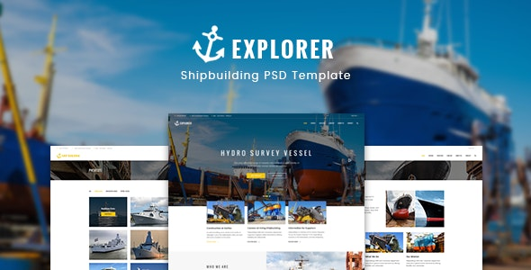 Explorer - Construction Ship Building Template - Business Corporate