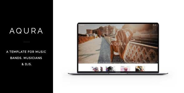AQURA - Music Band Musicians & DJ's HTML Template - Music and Bands Entertainment