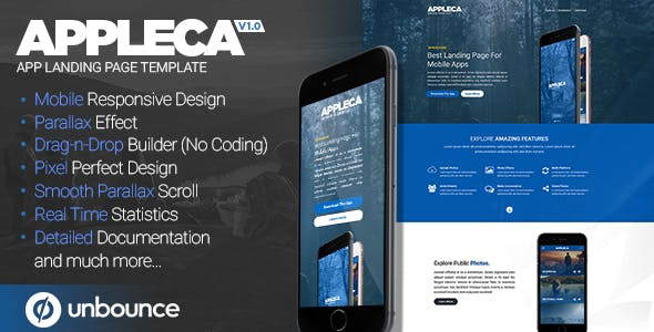 Appleca - Unbounce App Landing Page