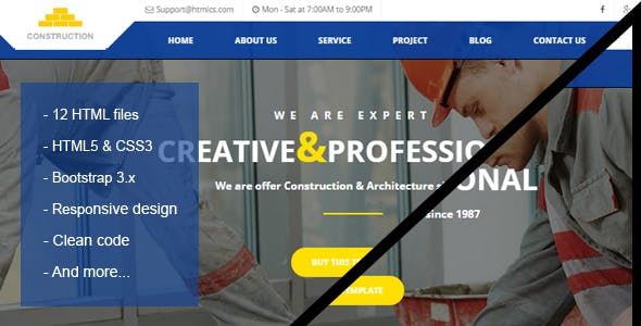Construction & Building HTML Template