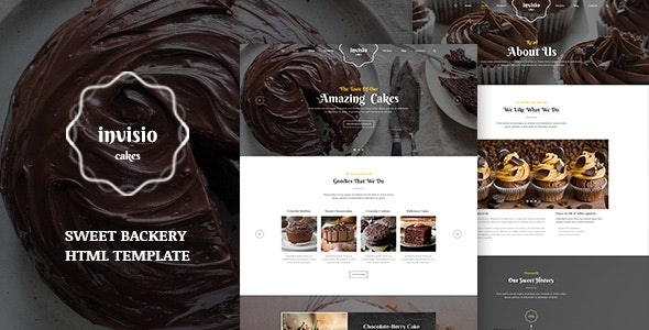 Invisio Cakes - Sweet Bakery HTML Template - Food Retail