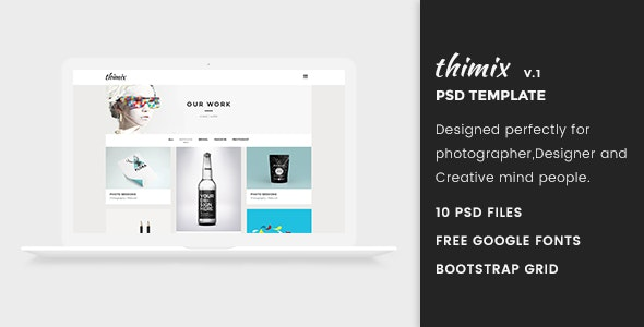 Thimix-Creative PSD Template - Creative Photoshop